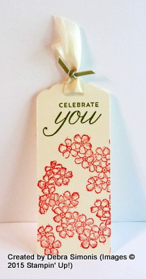 Birthday Blossoms Bookmark