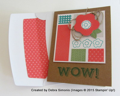 June PP WOW card with envelope