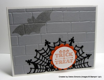Spider Web Halloween Card