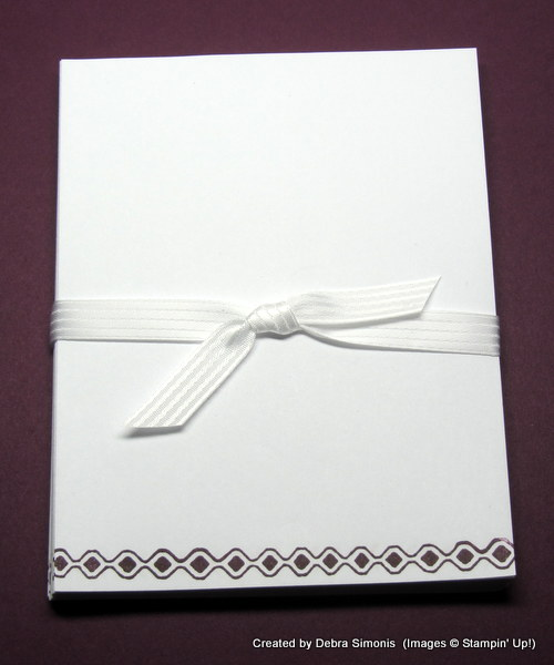 Stamped note paper