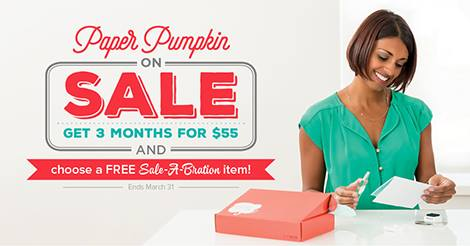 3 Month Paper Pumpkin and Sale-a-bration