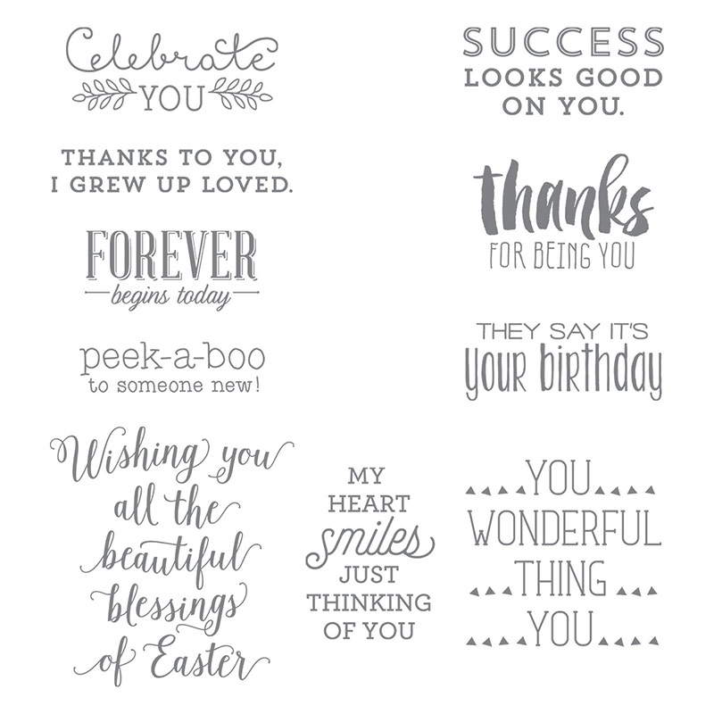 Suite Sayings Stamp Set Image