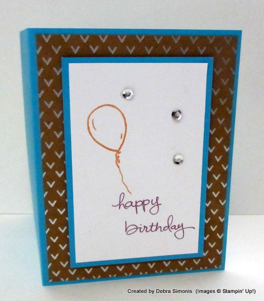 CAS Birthday with kraft Foil Paper