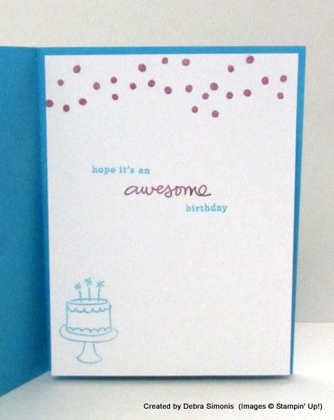 CAS Birthday with kraft Foil inside of card