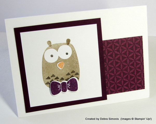 Playful Pals Owl in Blackberry Bliss