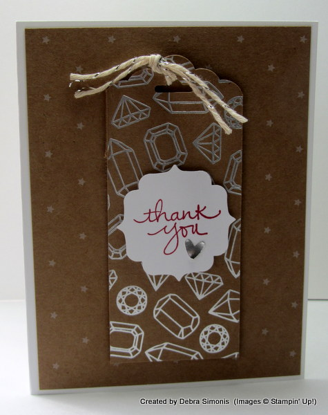 Tag Card CASED from Artisan Blog Hop March 2016