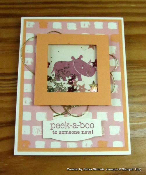 Zoo Babies Shaker Card