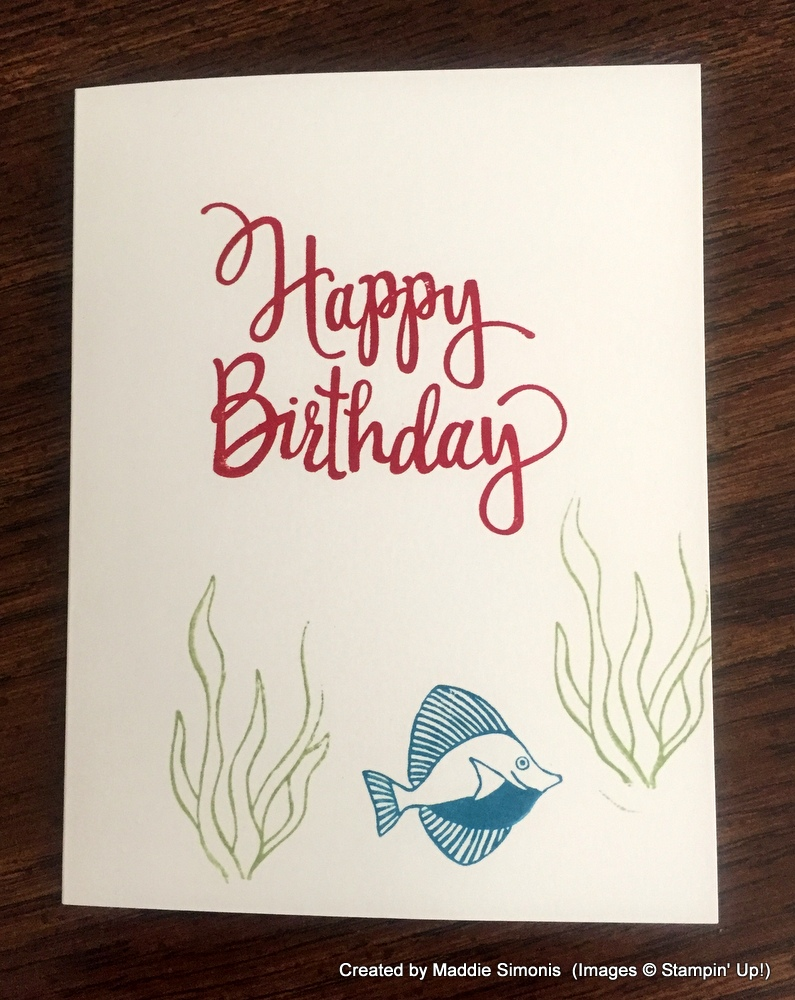 Fish Birthday Card by Maddie