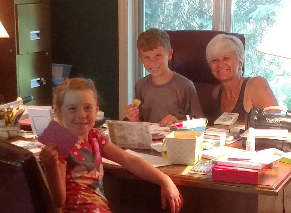 Stamping with Jack and Maddie-001