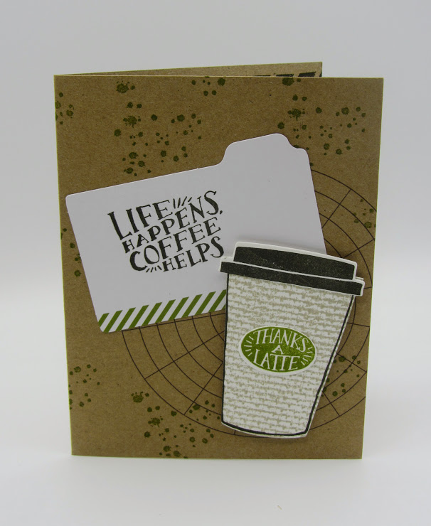 Stampin Up Coffee Cafe Bundle Coffee Cups Framelit Dies coffee card-  Debra Simonis Stampinup