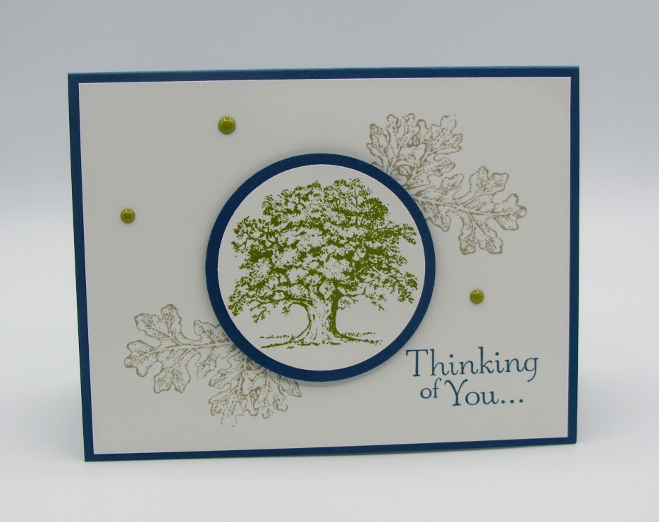 Stampin Up Lovely as a Tree Masculine Card Idea - Debra Simonis StampinUp