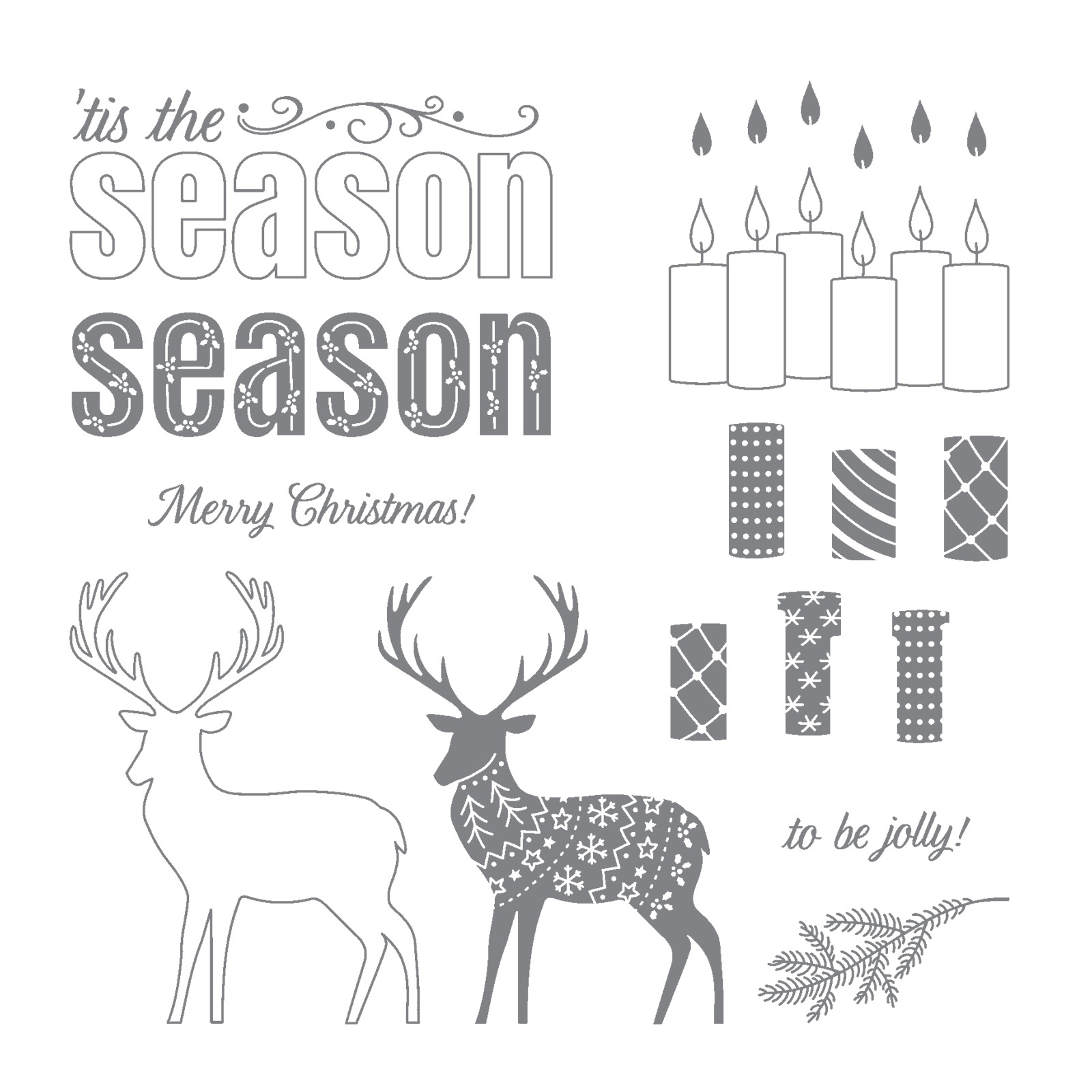 Stampin Up Merry Patterns Christmas card idea - Debra Simonis Stampinup