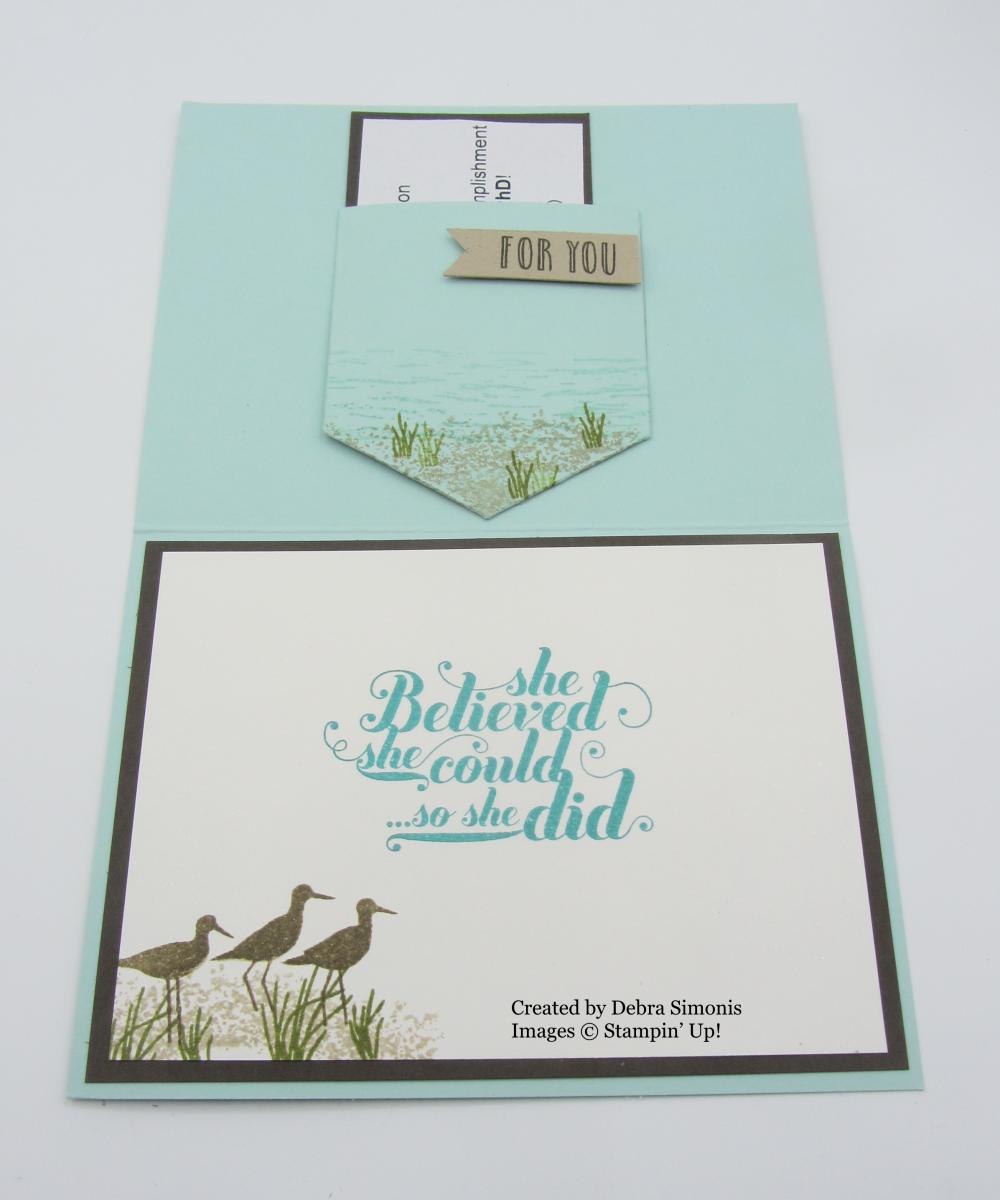 Stampin Up High Tide Feel Goods Pocket Framelits Dies congratulations card - Debra Simonis Stampinup