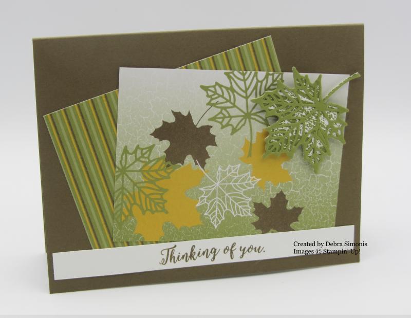Stampin Up Memories & More Color Theory card idea Seasonal Layers Thinlits Dies - Debra Simonis Stampinup