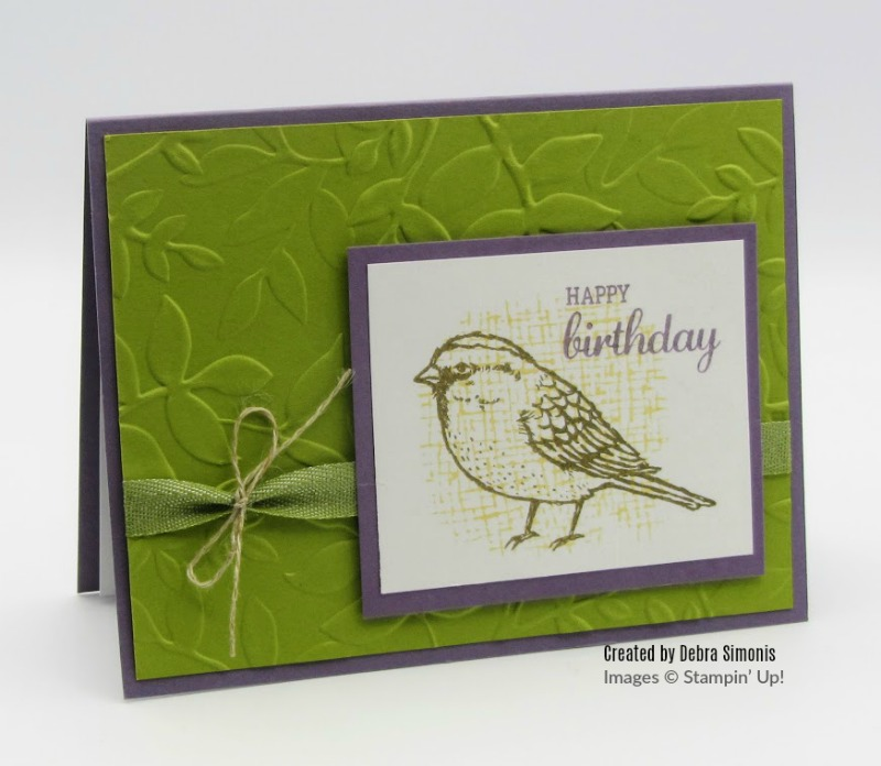 Stampin Up Best Birds Layered Leaves Embossing Folder - Debra Simonis Stampinup