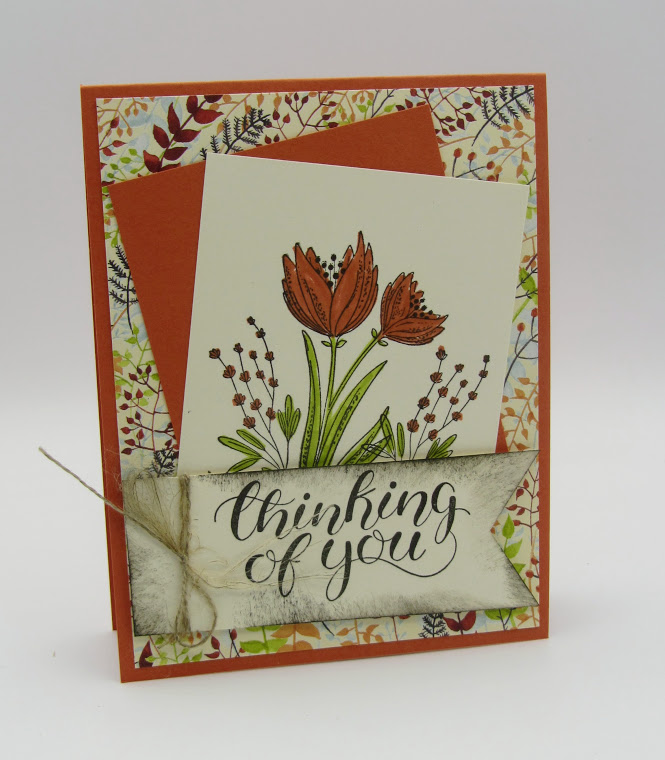Stampin Up Count Your Blessings Thinking of You card - Debra Simonis Stampinup