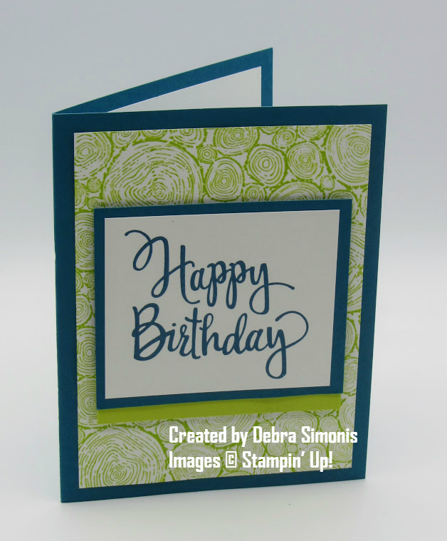 Stampin Up Tree Rings Stylized Birthday Masculine Card - Debra Simonis Stampinup