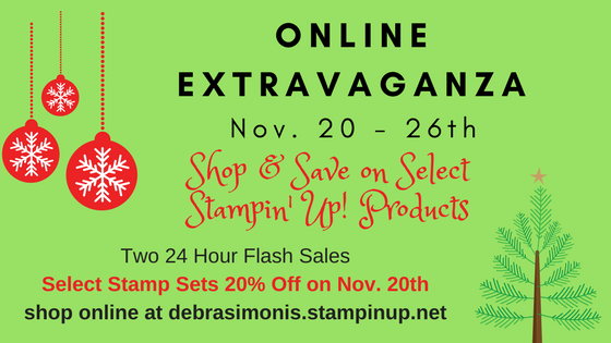 Stampin' Up Online Extravaganza 24 hour flash sale - Debra Simonis Stampinup