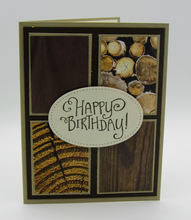 tampin Up Better Together Wood Textures  Masculine Birthday card - Debra Simonis Stampinup