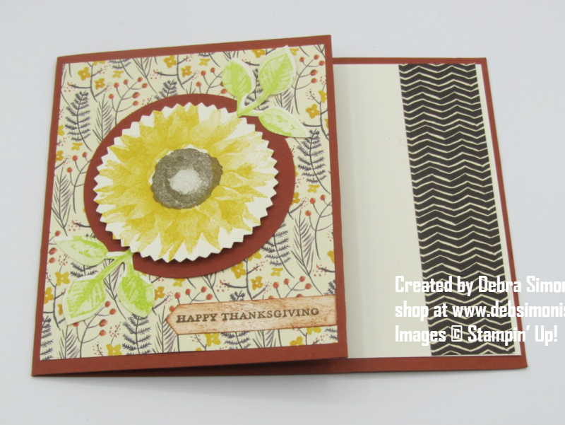 Stampin Up Painted Harvest thanksgiving gift card holder - Debra Simonis Stampinup
