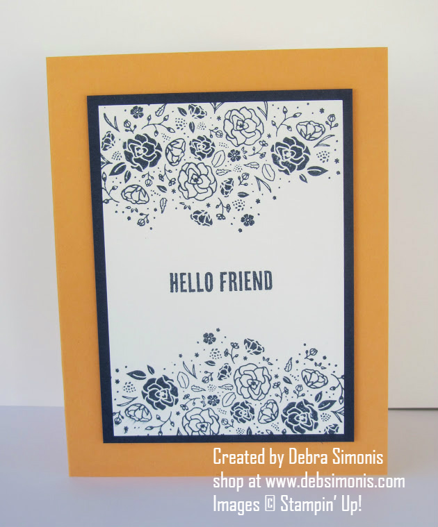 Stampin Up Wood Words Hello Friend - Debra Simonis Stampinup