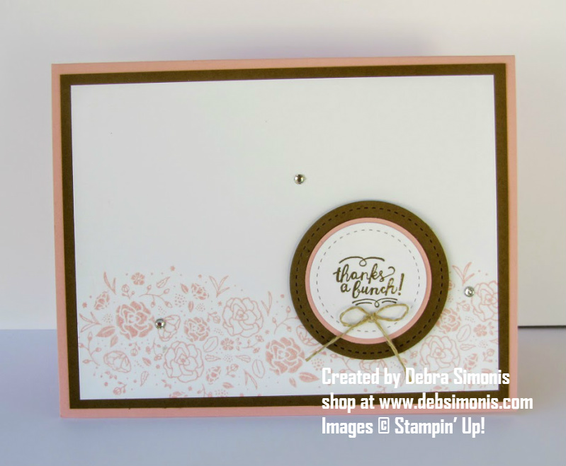 Stampin Up Wood Words Stitched Shapes Framelits Thanks a Bunch - Debra Simonis Stampinup