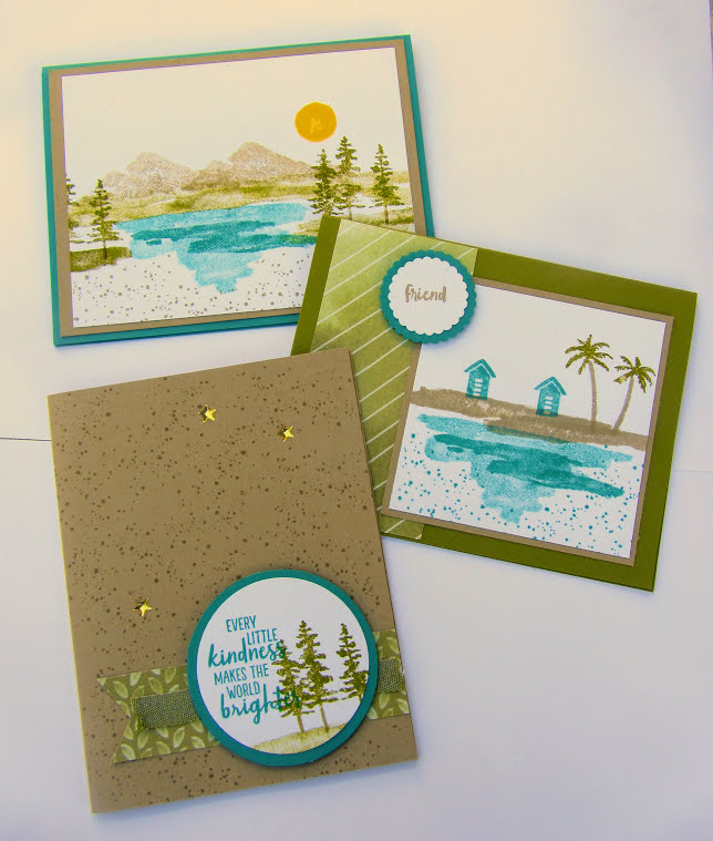 Stampin Up Waterfront Card Class by Mail - Debra Simonis stampinup