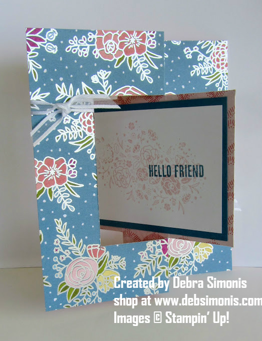 Stampin-Up-Wood-Words-Swing-Flip Flop Style-Fancy-Fold-Card-Debra-Simonis-Stampinup