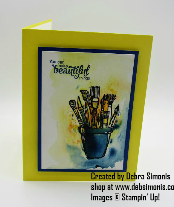 Stampin-Up-Crafting-Forever-Brush-o-card-for-a-crafter-Debra-Simonis-Stampinup