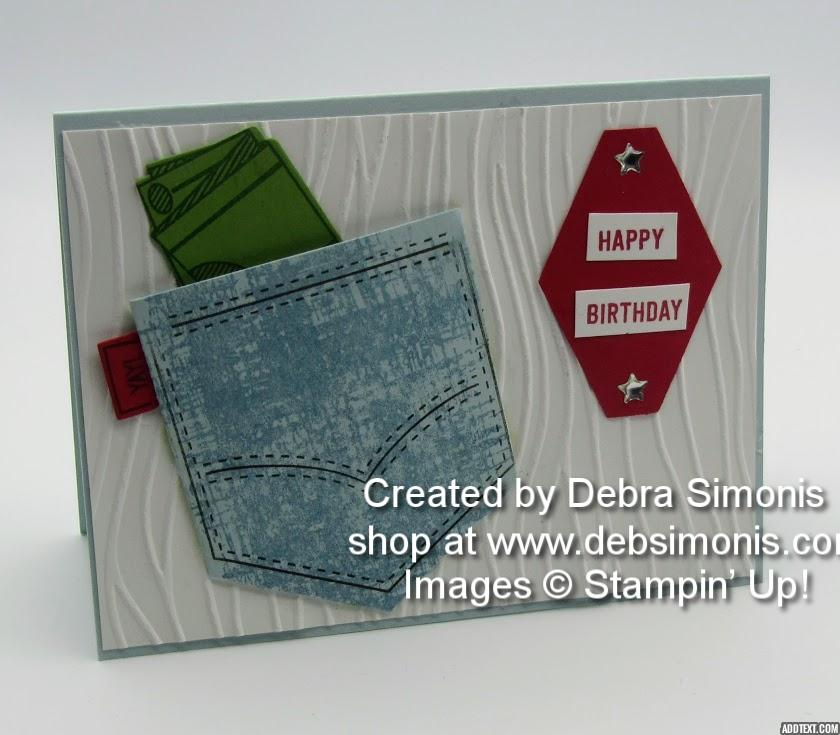 Stampin Up Pocketful Of Sunshine Tailored Tag Gift Card Holder