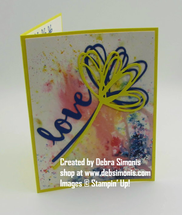 Stampin-Up-Brusho-Color-Crystals-Sunshine-Wishes-Thinlits-love-card-friend-Debra-Simonis-Stampinup