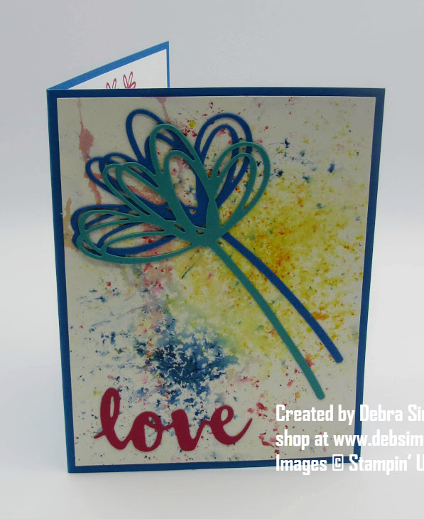 Stampin-Up-Brusho-Color-Crystals-Sunshine-Wishes-Thinlits-love-thinking-of-you-friend-card-Debra-Simonis-Stampinup