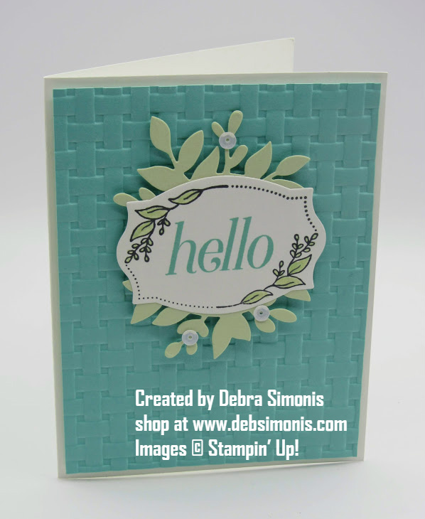 Stampin-Up-Floral-Frame-stamp-set-Foilage-Frame-Freamelits-Hello-Thinking-of-You-card-Debra-Simonis-Stampinup