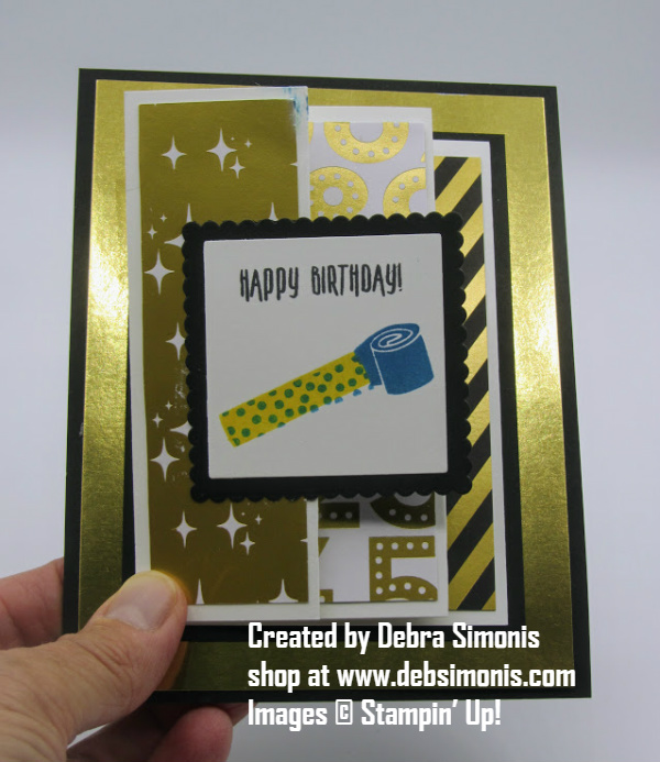 Stampin-Up-Picture-Perfect-Birthday-Broadway-Bound-Specialty-DSP-fancy-fold-birthday-card-Debra-Simonis-Stampinup