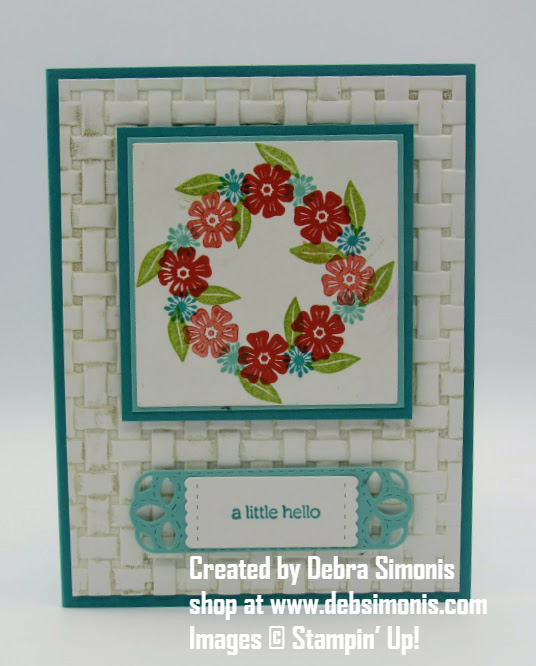 Stampin-Up-Beautiful-Bouquet-Itty-Bitty-Greetings-Basketweave-Embossing-Folder-Stitched-Labels-Framelits-Debra-Simonis-Stampinup