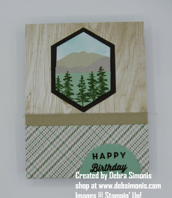 Stampin Up Manly Moments Alternative Card Masculine Birthday Card