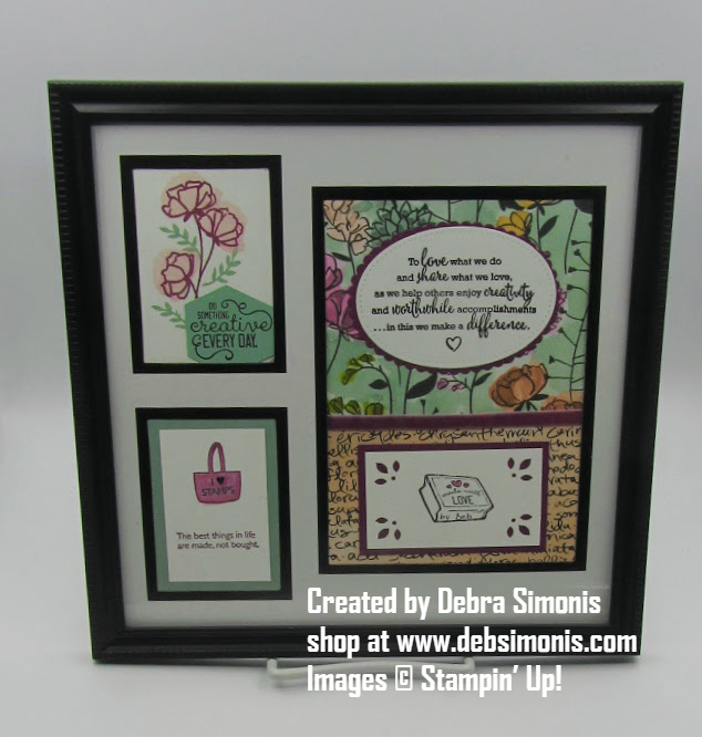Stampin-Up-Share-What-You-Love-Love-What-You-Do-framed-art-project-Debra-Simonis-Stampinup