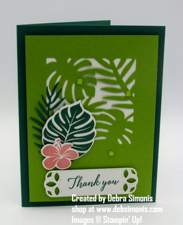 Stampin-Up-Tropical-Chic-Tropical-Thinlits-Stitched-Labels-Framelits-thank-you-card-Debra-Simonis-Stampinup