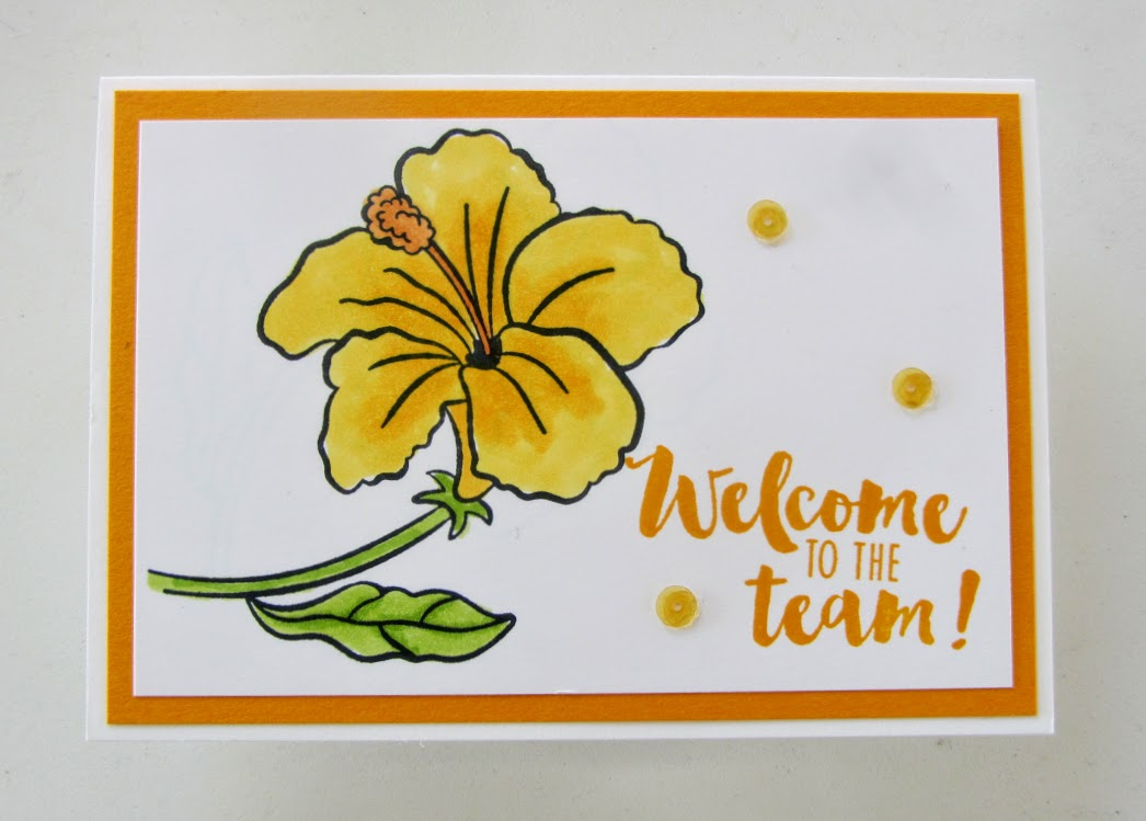 Stampin-Up-Humming Along - Stamping-Your-Way-stamp-set-welcome-to-the-team-Debra-Simonis-Stampinup