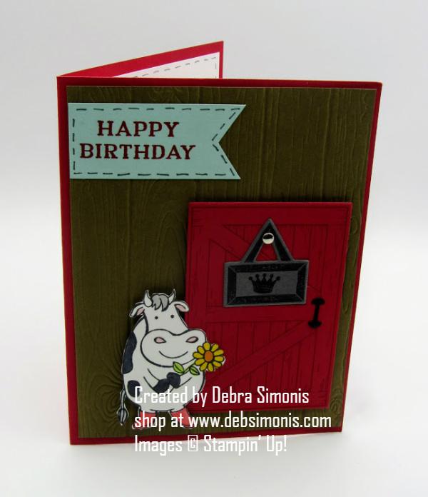 Stampin-Up-Barn-Door-stamp-set-Over-the-Moon-Stamp-set-Perennial-Birthday-stamp-set-birthday-card-cow-card-Debra-Simonis-StampinupWe