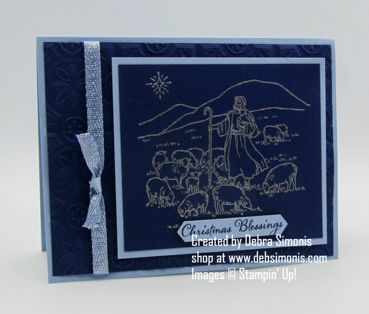 Stampin-Up-Light-Peace-stamp-set-Tin-Tile-Embossing-Folder-heat-embossing-Religious-Christmas-card-Debra-Simonis-Stampinup