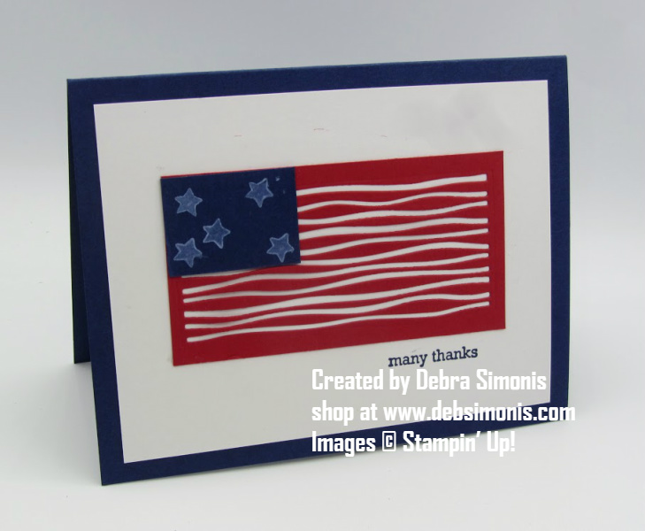 tampin-Up-Merry-Moose-Lakeside-Dies-thank-you-card-military-never-forgotten-honor-flight-Debra-Simonis-Stampinup