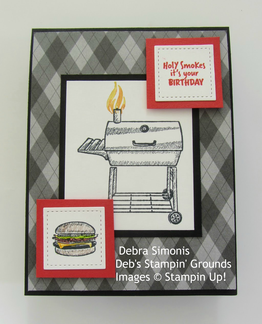 Stampin-Up-Outdoor-Barbecue-Country-Club-Designer-Series-Paper-barbeque-grill-masculine-card-Debra-Simonis-Stampinup