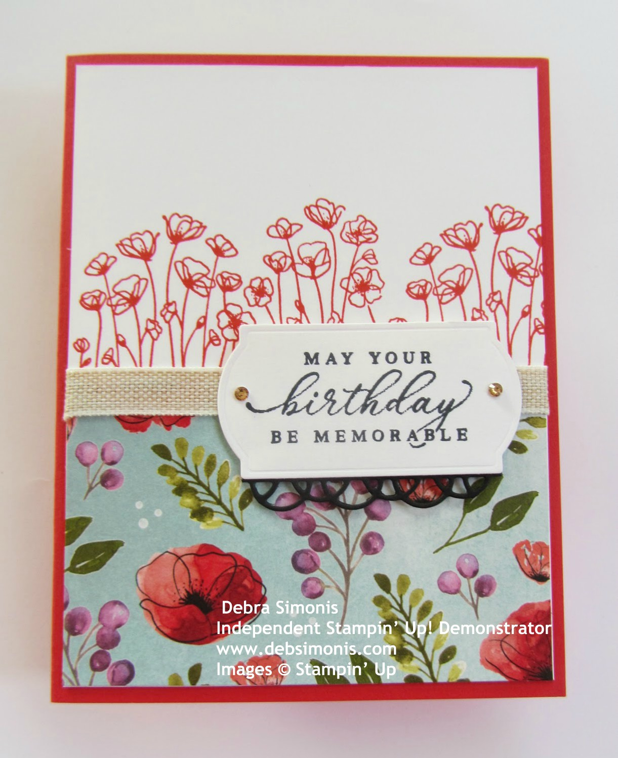 Stampin-Up-Painted-Poppies-stamp-set-Peaceful-Poppies-DSP-Painted-Labels-Dies-Timeless-Tropical-birthday-card-Debra-Simonis-Stampinup