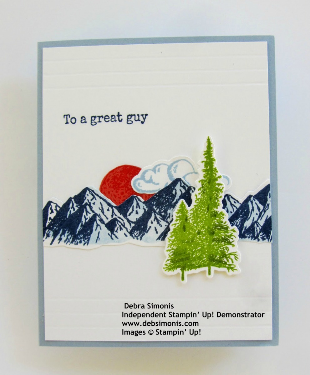 Stampin-Up-Mountain-Air-stamp-set-Pedal-to-the-Metal-stamp-set-Majestic-Mountains-Dies-masculine-card-Debra-Simonis-Stampinup