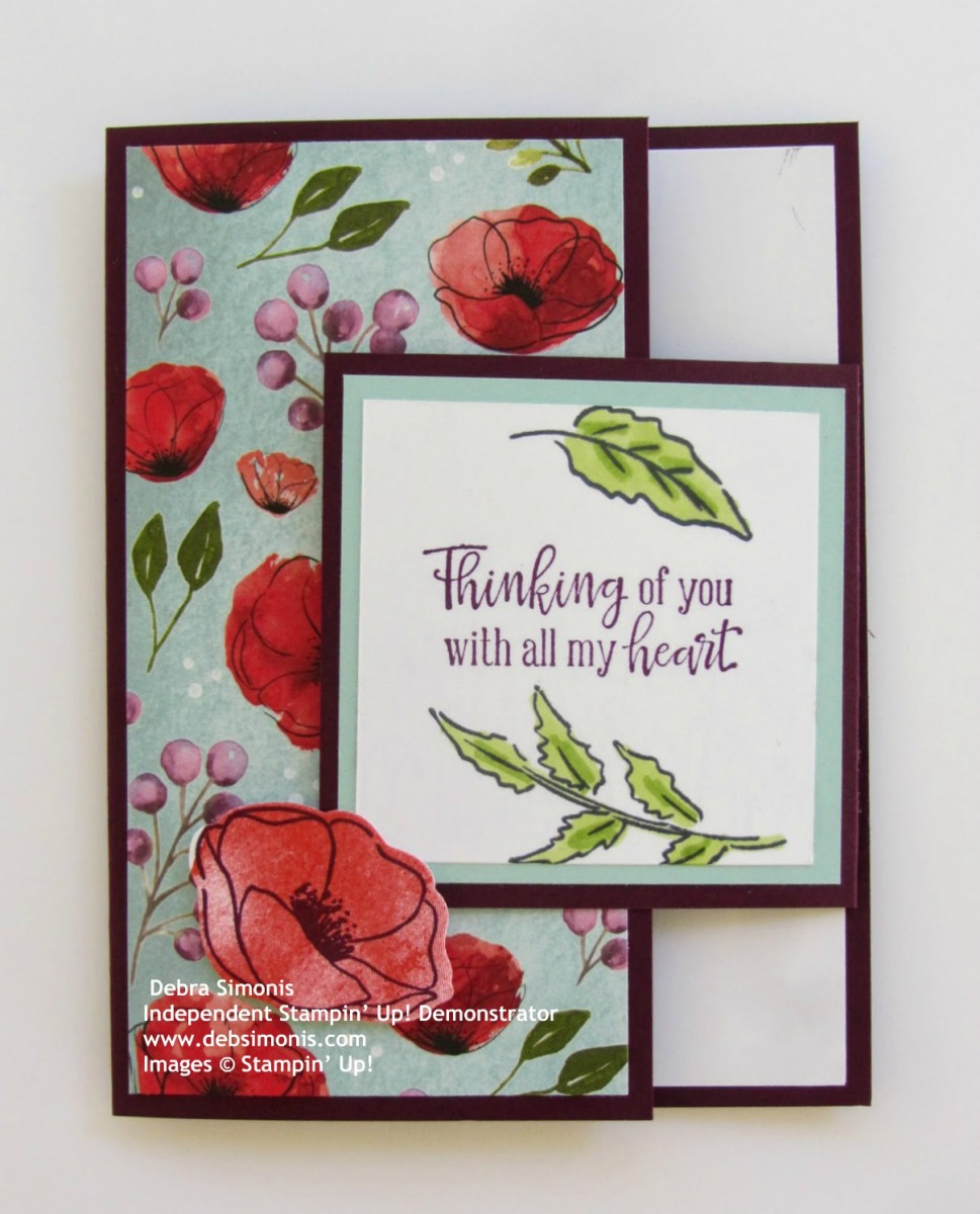 Stampin-Up-Painted-Poppies-stamp-set-Painted-Labels-Dies-fun-fold-thinking-of-you-card-Debra-Simonis-Stampinup