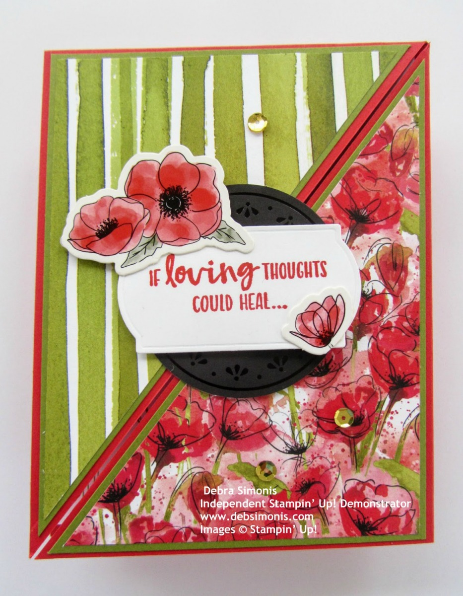 Stampin-Up-Sending-You-Thoughts-stamp-set-Peaceful-Poppies-Elements-Painted-Labels-Dies-Peaceful-Poppies-Sequins-Peaceful-Poppies-DSP-get-well-card-Debra-Simonis-Stampinup