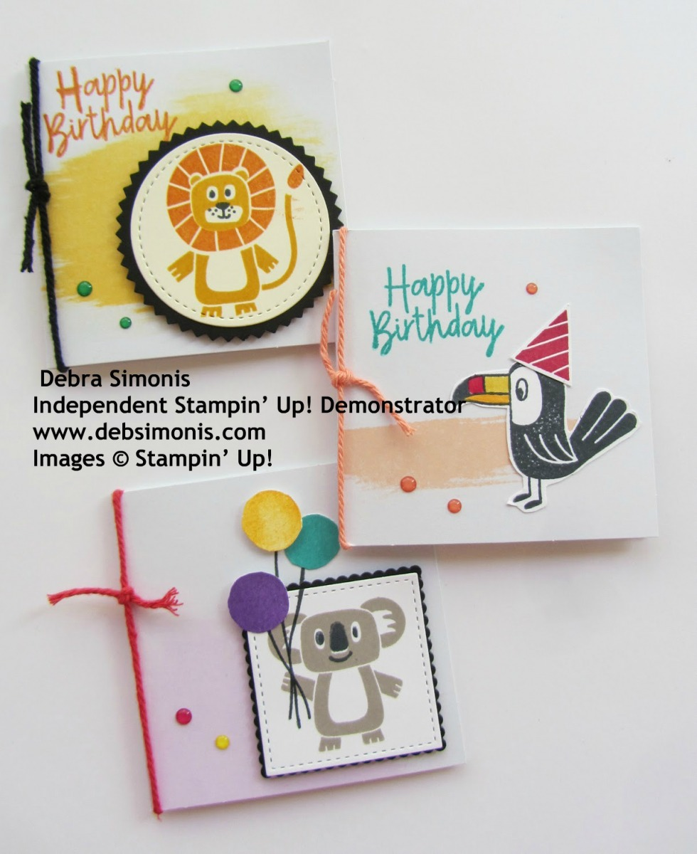 Stampin-Up-Birthday-Bonanza-3-x-3-Gift-Enclosure-cards-birthday-new-baby-Debra-Simonis-Stampinup