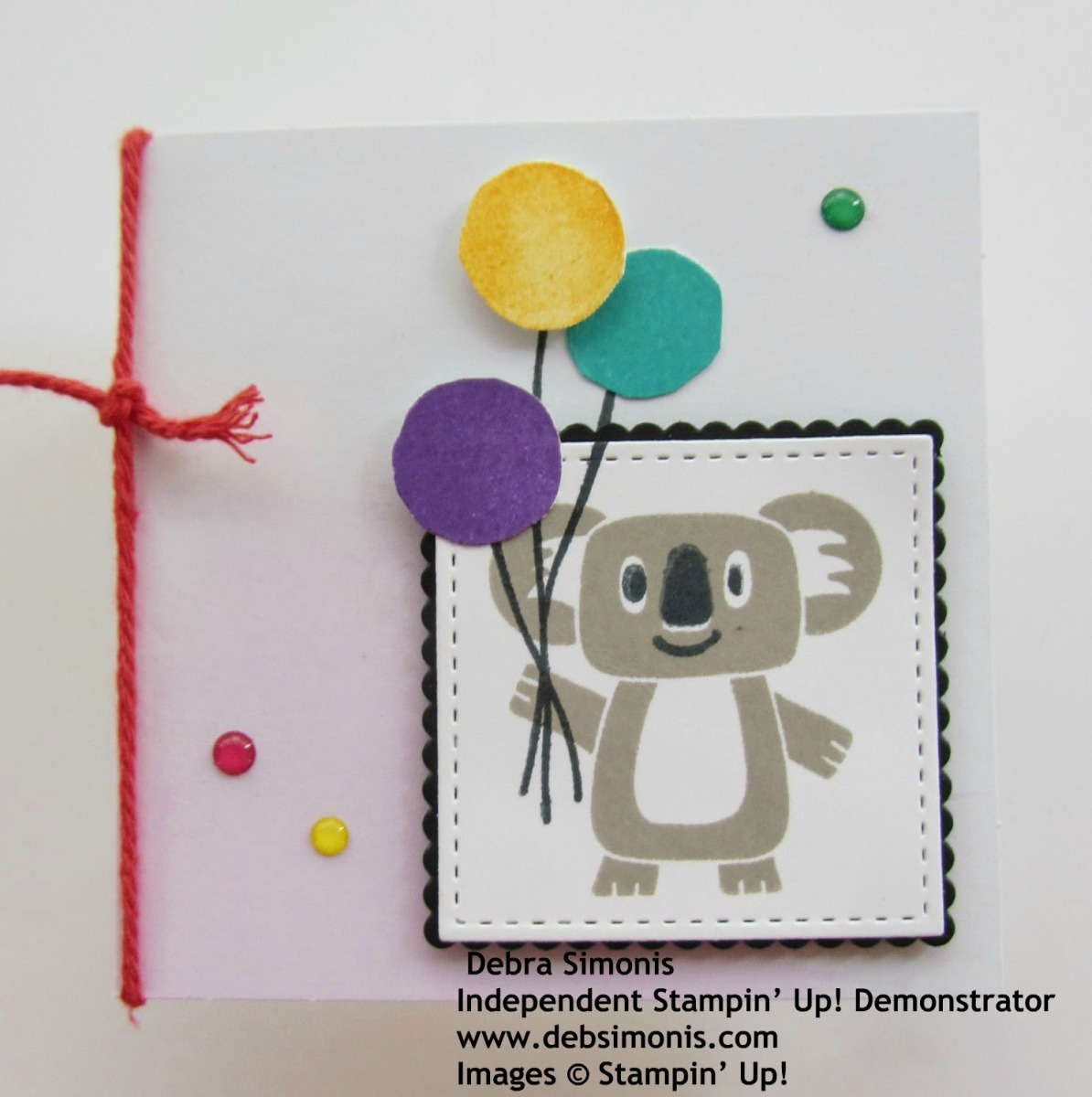 Stampin-Up-Birthday-Bonanza-3-x-3-Koala-Gift-Enclosure-Card-Stitched-Shapes-Dies-birthday-new-baby-Debra-Simonis-Stampinup