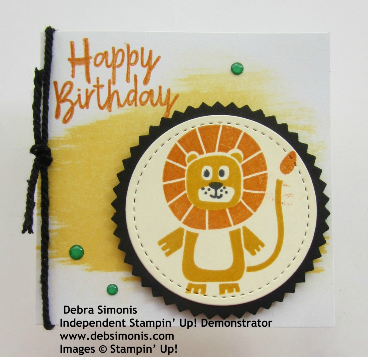 Stampin-Up-Birthday-Bonanza-3-x-3-Lion-Birthday-Gift-Enclosure-Card-Starburst-Punch-Stitched-Shapes-Dies-Debra-Simonis-Stampinup
